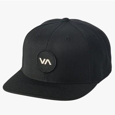 RVCA VA Patch Snapback Hat Cap Black キャップ 送料無料