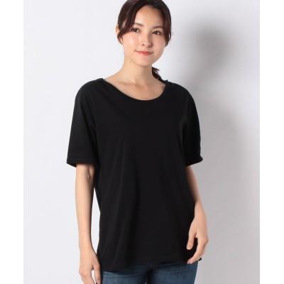 【アルアバイル】 テンジクラウンドネックゆるTシャツ レディース ブラック 02 allureville