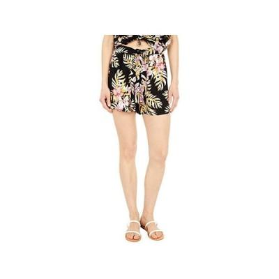 ボルコム Forget Yoself Shorts レディース ショートパンツ ズボン 半ズボン Black Floral Print