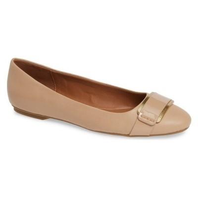 【当日出荷】 カルバンクライン レディース Calvin Klein Oneta Ballet Flat (Women) Desert Sand Leather 【サイズ 9M】