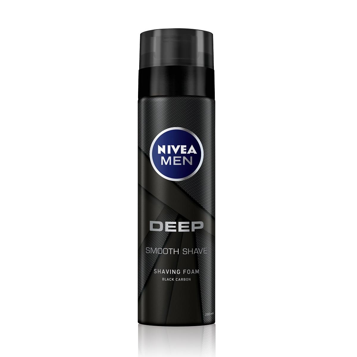 NIVEA妮維雅男士深極炭極淨保濕刮鬍泡200ml