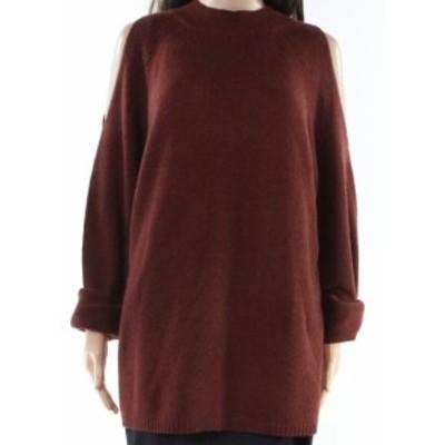 ファッション トップス Designer Brand NEW Orange Womens Small S Cold Shoulder Knitted Sweater