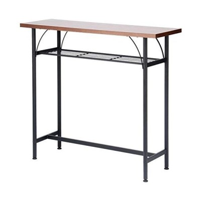 Vデザイン カウンターテーブルセット テーブル チェア 高さ90cm 背もたれ付き 回転いす (ブラウン, テーブル)