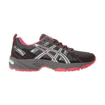 ASICS Women's Gel-Venture 5 Trail Runner, Carbon/Diva Pink/Bay, 7 M US
