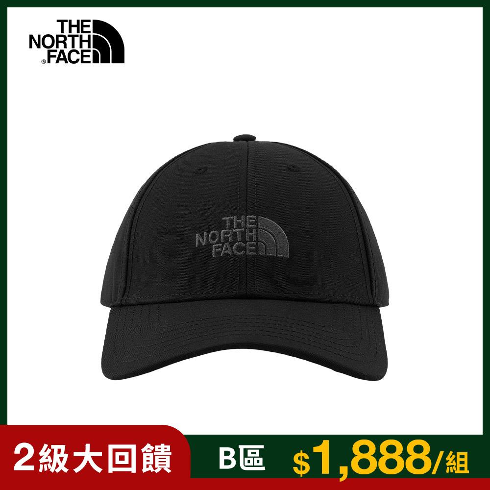 The North Face北面男女款黑色休閒運動帽 4VSVJK3
