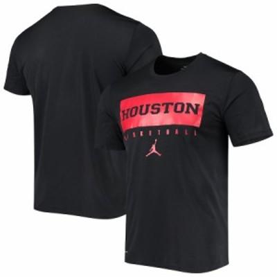 """メンズ Tシャツ """"Houston Cougars"""" Jordan Brand Basketball Jumpman Legend Performance T-Shirt - Black"""