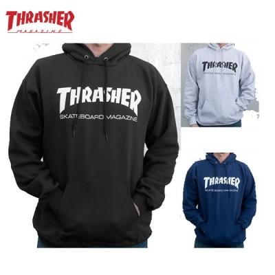スラッシャー パーカー メンズ レディース THRASHER スウェット USAモデル SKATEMAG プルオーバー