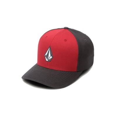 帽子 ボルコム Volcom Men's Full Stone Xfit Flexfit Hat Engine Red Blk Cap Summer Headwear