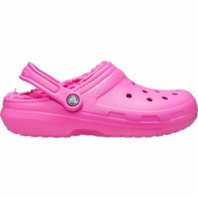 クロックス Crocs レディース クロッグ シューズ・靴 Adult Classic Fuzz-Lined Clogs Electric Pink