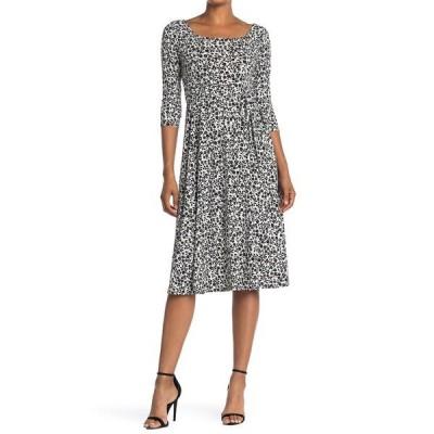 ウエスト ケイ レディース ワンピース トップス Midi Knit Printed Dress BLK/WHT