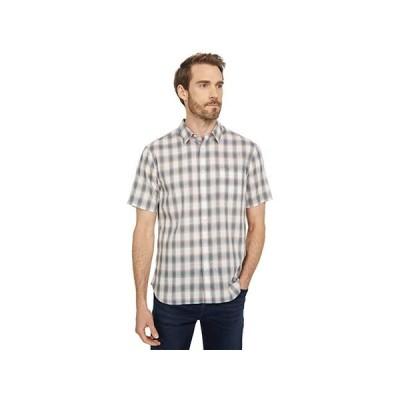ヴィンス Multi Shadow Plaid Short Sleeve メンズ シャツ トップス Off-White/Palisades Blue