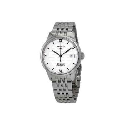 腕時計 ティソット メンズ Tissot Le Locle Double Happiness Silver Dial Automatic Men's Watch