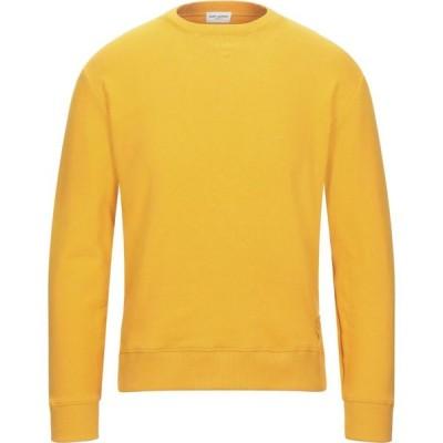 イヴ サンローラン SAINT LAURENT メンズ スウェット・トレーナー トップス Sweatshirt Apricot