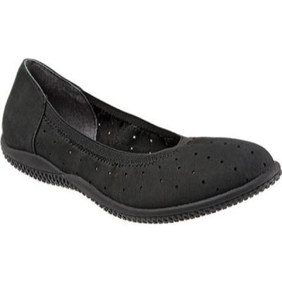 ソフトウォーク SoftWalk レディース スリッポン・フラット バレエシューズ シューズ・靴 Hampshire Ballerina Flat Black Nubuck Leather