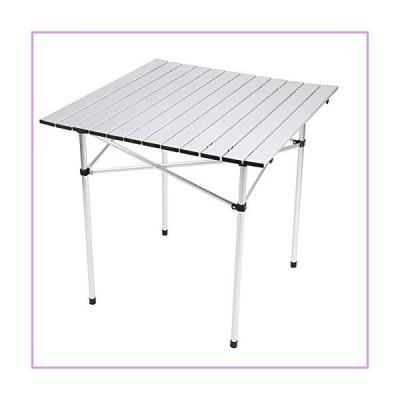 キャリーバッグ付きキャンプテーブル折りたたみ式アルミピクニックテーブル、アウトドア用ポータブ