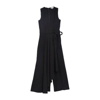 カルバンクライン レディース ワンピース トップス Sleeveless Belted Wide Leg Jumpsuit BLACK