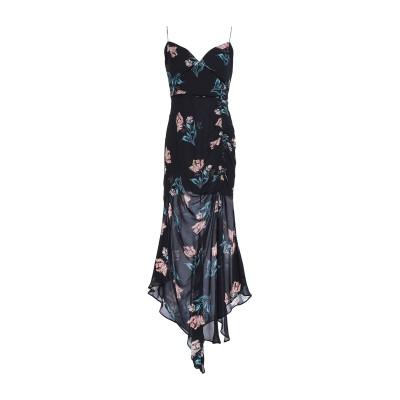 NICHOLAS 7分丈ワンピース・ドレス ブラック 6 シルク 100% 7分丈ワンピース・ドレス