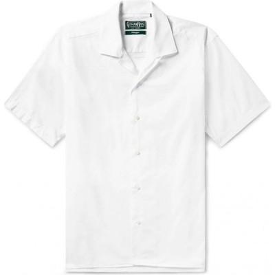 ギットマンブラザーズ GITMAN BROS. Vintage メンズ シャツ トップス Solid Color Shirt White