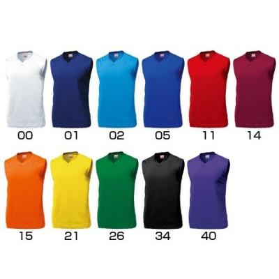 ベーシックバスケットシャツ (ジュニア用) チームデザインユニフォーム (P-1810) WUNDOU
