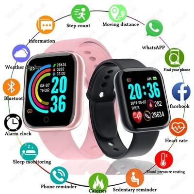 Bluetoothスマートウォッチ 男性女性 スマートウォッチ 血圧心拍数モニター スポーツフィットネス ブレスレット AppleAndroid用|