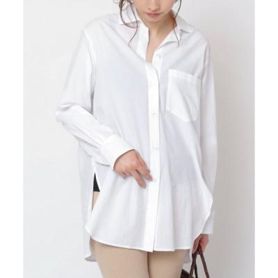 【ミューカ】80タイプライター東炊きロングシャツ