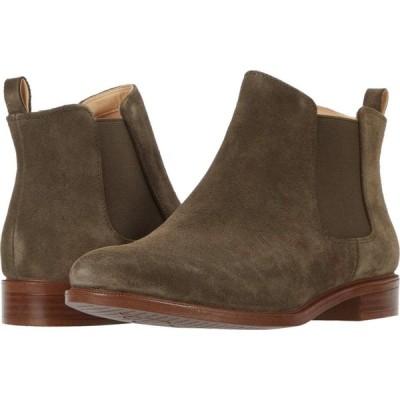 クラークス Clarks レディース ブーツ シューズ・靴 Taylor Shine Dark Olive Suede