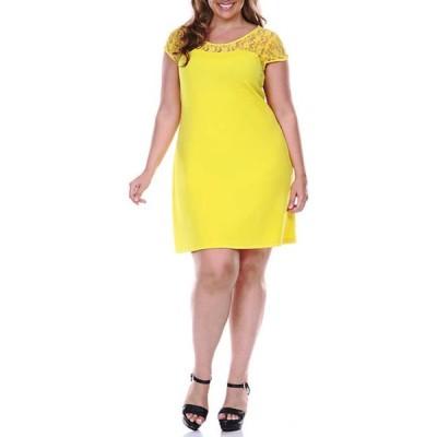 ホワイトマーク レディース ワンピース トップス Plus Size Pelagia Dress