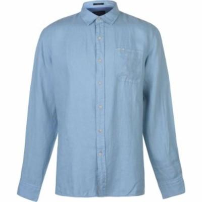 ペペジーンズ Pepe Jeans メンズ トップス Prestige Linen Shirt Light Blue