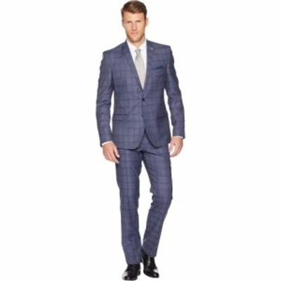ニック グラハム Nick Graham メンズ スーツ・ジャケット アウター Plaid 32 Finished Bottom Suit Denim Blue