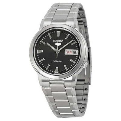 腕時計 セイコー Seiko 5 SNXE91 SNXE91K メンズ ステンレス スチール ブラック ダイヤル オートマチック 腕時計