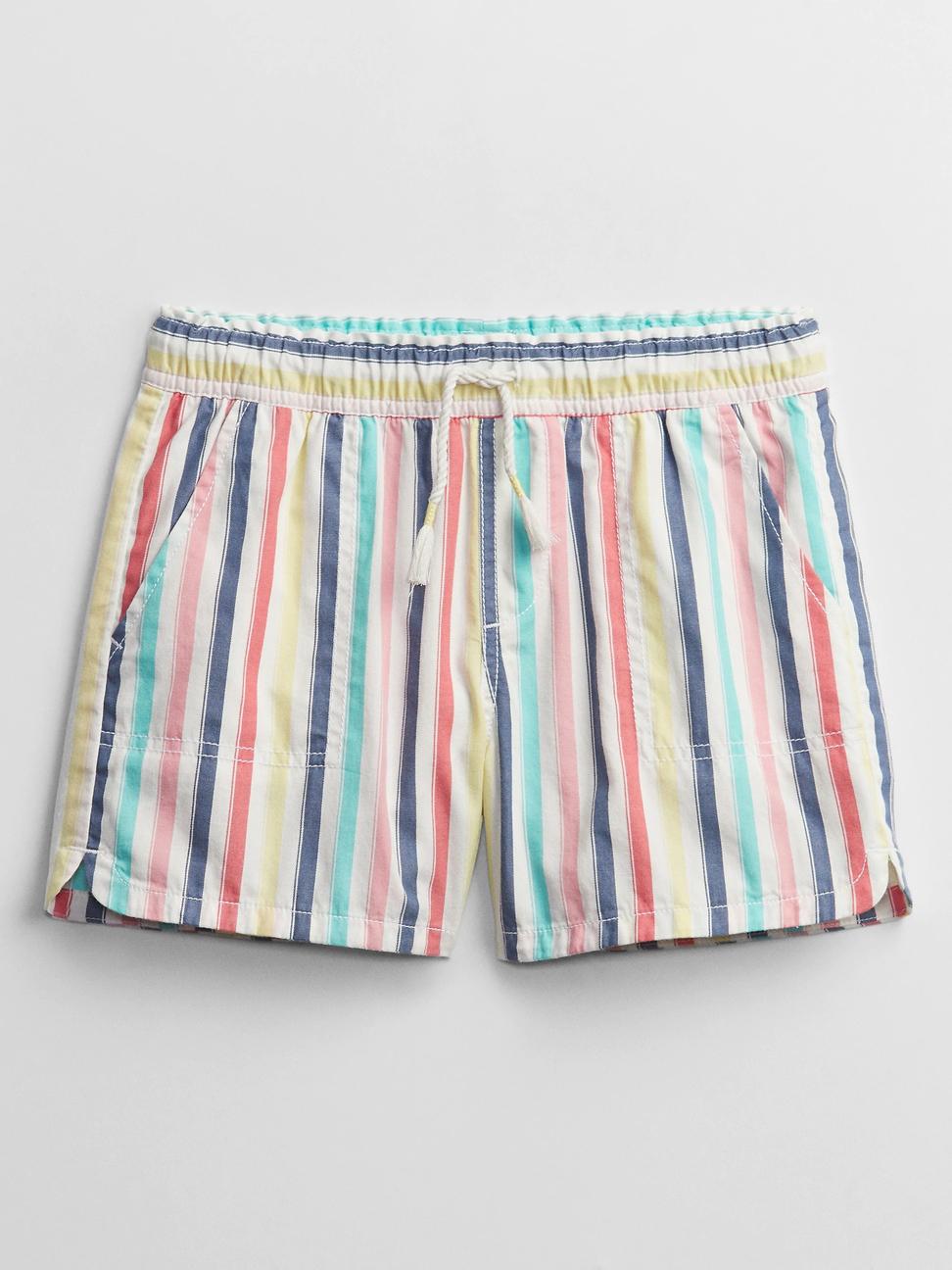 女童 活力亮色鬆緊休閒短褲