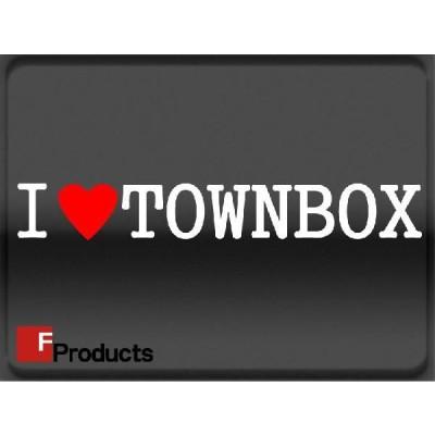 Fproducts アイラブステッカー/TOWNBOX/アイラブ タウンボックス