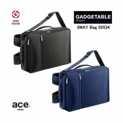 【送料無料】エースジーン(ace. GENE LABEL) ガジェタブル(GADGETABLE) 3WAYバッグ バックパック 14L 55534 B4ファイル/15インチPC対応