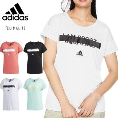 送料無料 メール便発送 即納可☆【adidas】アディダス特価  グラフィック Tシャツ レディース FTK24