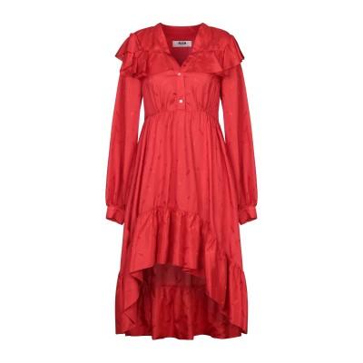 エムエスジーエム MSGM 7分丈ワンピース・ドレス レッド 38 レーヨン 50% / アセテート 50% 7分丈ワンピース・ドレス