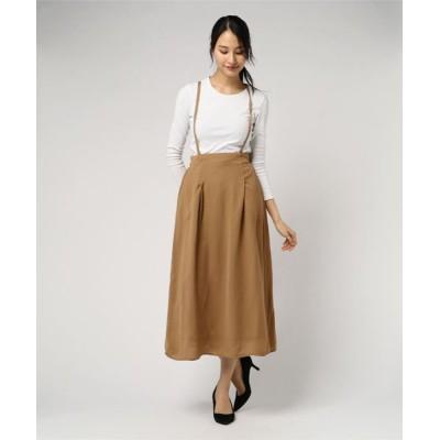JUGLANS / ダブルジョーゼット サスペンダーフレアスカート WOMEN スカート > スカート