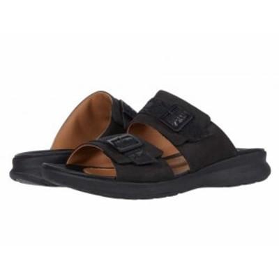 Clarks クラークス レディース 女性用 シューズ 靴 サンダル Un Adorn Slide Black Nubuck/Leather Combi【送料無料】