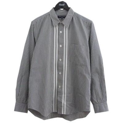 COMME des GARCONS HOMME 08SS センターラインチェックシャツ ブラック×ホワイト サイズ:SS (原宿店) 210113