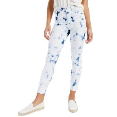 スタイルアンドコー レディース デニムパンツ ボトムス Tie-Dyed High-Rise Skinny Jeans, Created for Macy's Delicate Tiedye