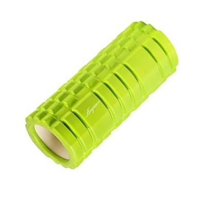 Anyasun フォームローラー グリッドフォームローラー 筋膜リリース ヨガポール トレーニング スポーツ フィットネス ストレッチ器具 収納バッグ