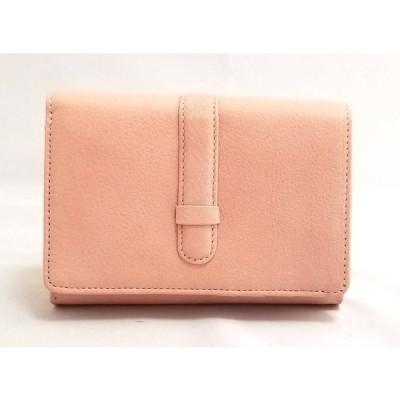 未使用 新品 ニューヨーカー レザー 財布 ピンク L字ファスナー NEWYORKER レディース 二つ折り ベビーピンク