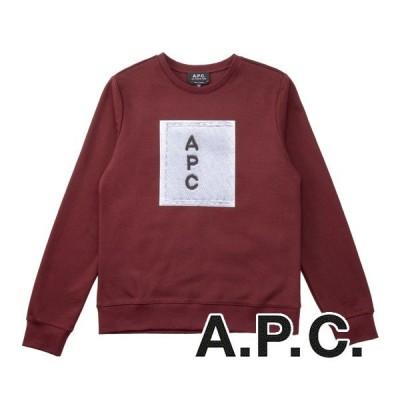 A.P.C. レディース長袖スウェット(ボルドー) 19秋冬モデル  AP-007
