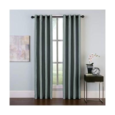 Curtainworks マルタカーテンパネル 50×144インチ ティール(グレー-ブルー)