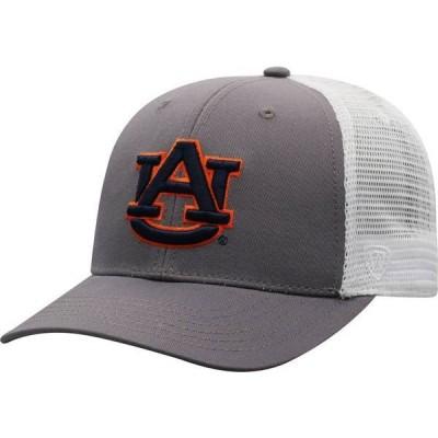 トップオブザワールド メンズ 帽子 アクセサリー Top of the World Men's Auburn Tigers Grey/White BB Two-Tone Adjustable Hat