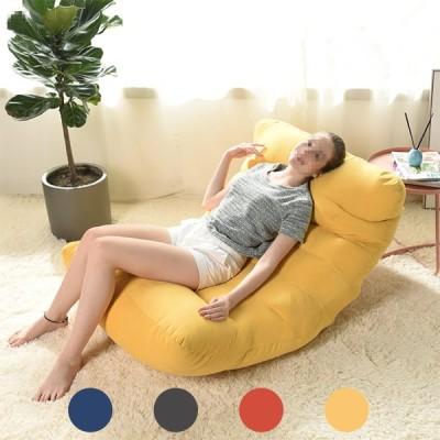 [ダークグレー]多色の大人の子供のための大きい豆袋の椅子カバーラウンジのソファーのスリップカバー