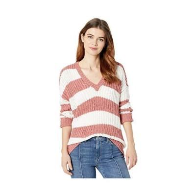 Show Me Your Mumu Women's Sweater, Mauve Stripe Knit, L並行輸入品 送料無料