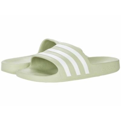 アディダス サンダル シューズ レディース Adilette Aqua Slides Halo Green/White/Halo Green