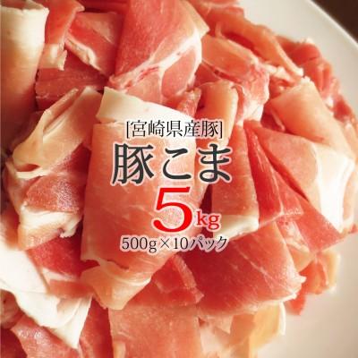 宮崎県産豚こま肉5kg(500g×10パック)※90日以内に出荷