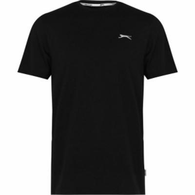 スラセンジャー Slazenger メンズ Tシャツ ロゴTシャツ トップス Logo Tee Black