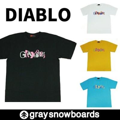 半額 graysnowboards グレイスノーボード DIABLO Tシャツ 半袖  アパレル ロゴ GRAY